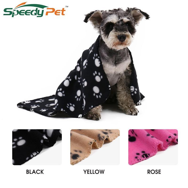 Large Size 60cm 70cm Pet Dog Towel Cat Blanket Soft Towel Paw