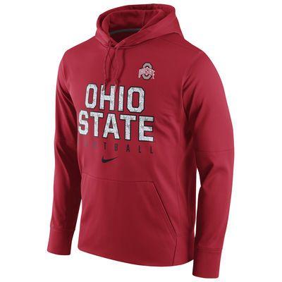 Ohio State Buckeyes Nike Circuit Football Pullover Performance Hoodie - Scarlet