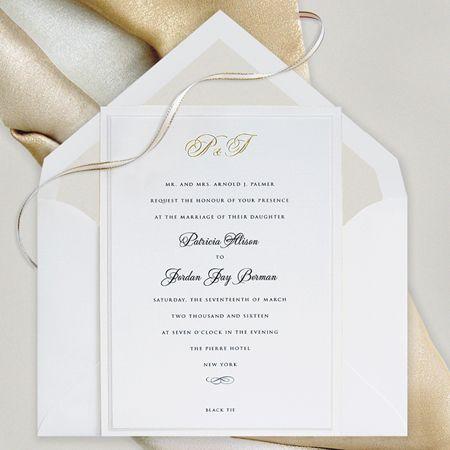 Classic wedding invitation available from ivysinvitations - best of formal invitation salutations