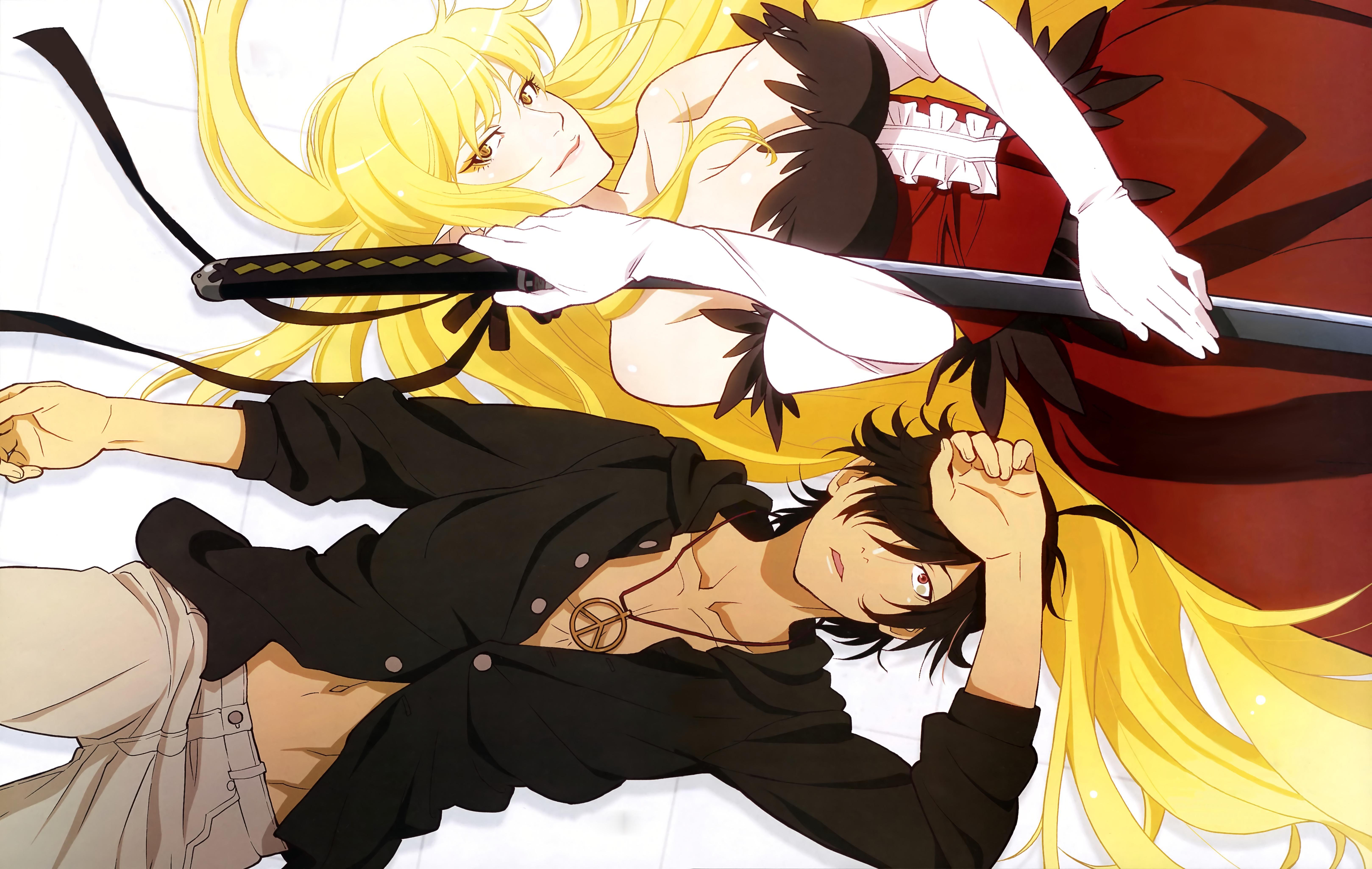 Araragi Kiss Shot Hd Wallpaper From Gallsourcecom Sasa Anime
