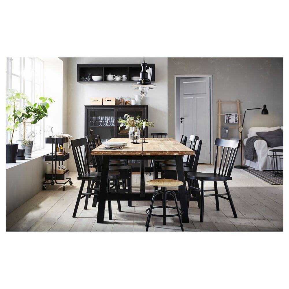 Skogsta Norraryd Tisch Und 6 Stuhle Akazie Schwarz Ikea Deutschland Ikea Esstisch Ikea Tisch