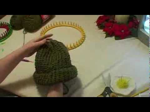 Knitting an Adult Hat on Round Loom - Start to Finish