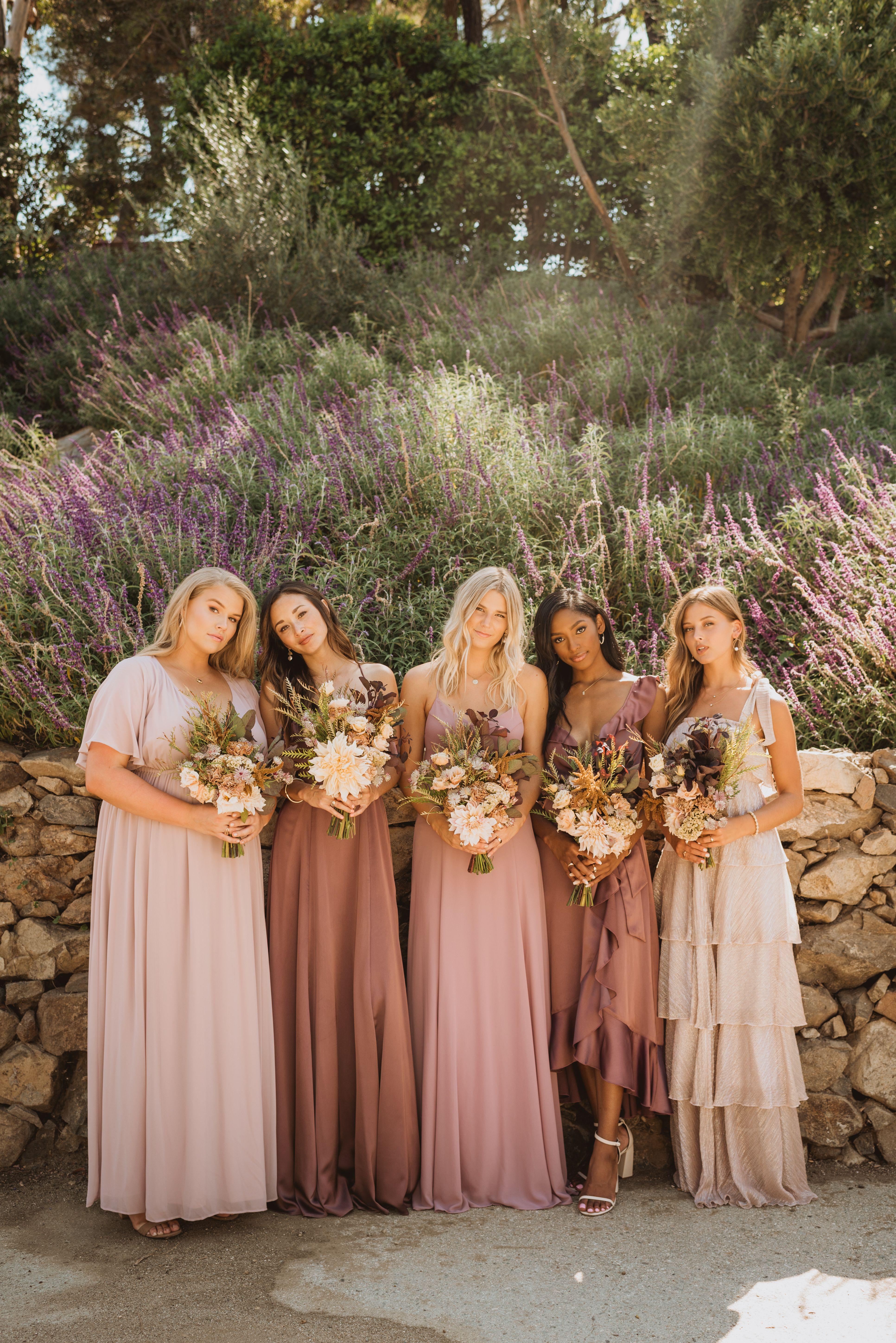 Purples & Mauves   Bridesmaids dresses spring wedding, Boho ...