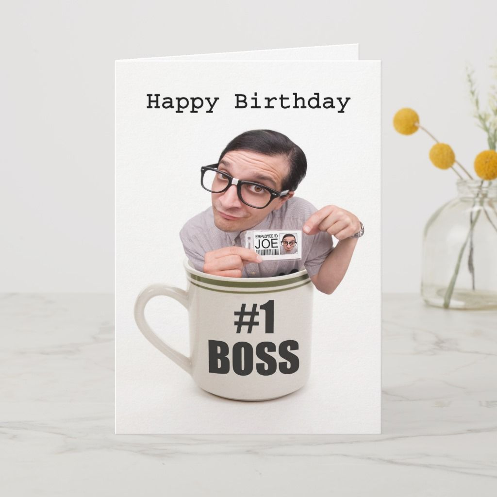 Happy Birthday Boss Cup of Joe Card | Zazzle.com