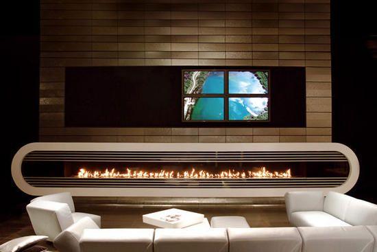 modern fireplace10 unusual fireplaces Pinterest Modern