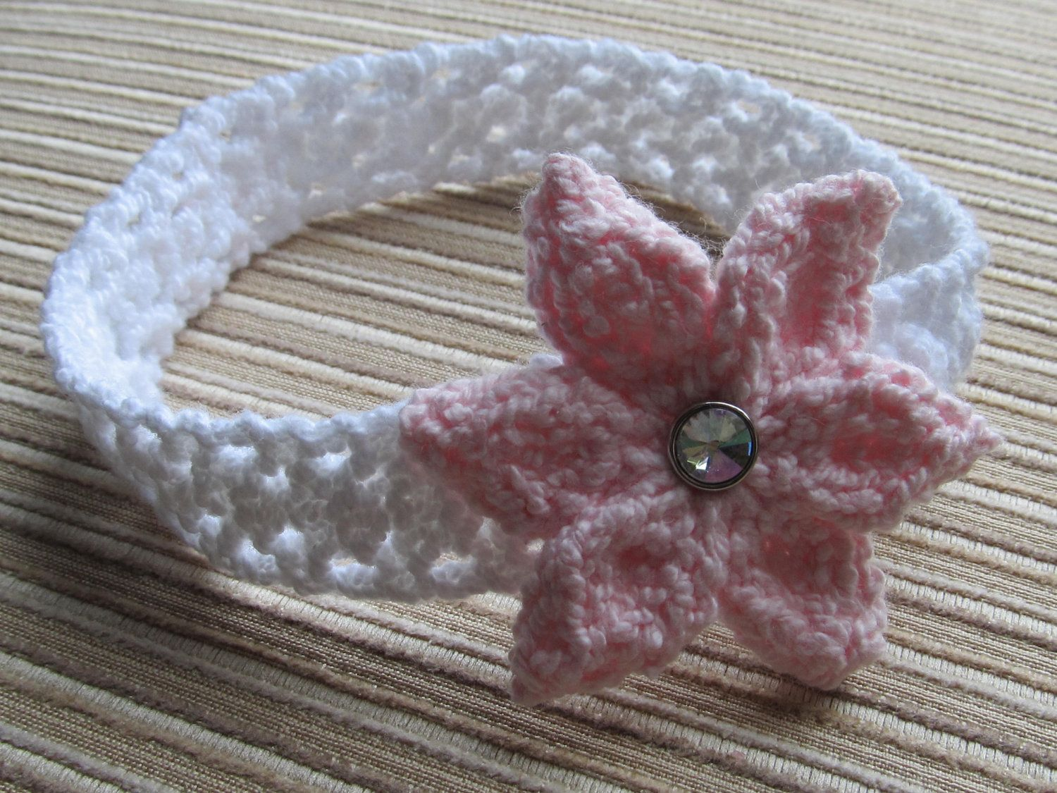 Instant Download Knitting Pattern #63 Lacy Headband with a Large ...