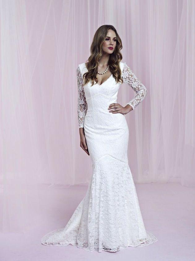 30 Gorgeous Lace Sleeve Wedding Dresses | Wedding dress, Sleeved ...