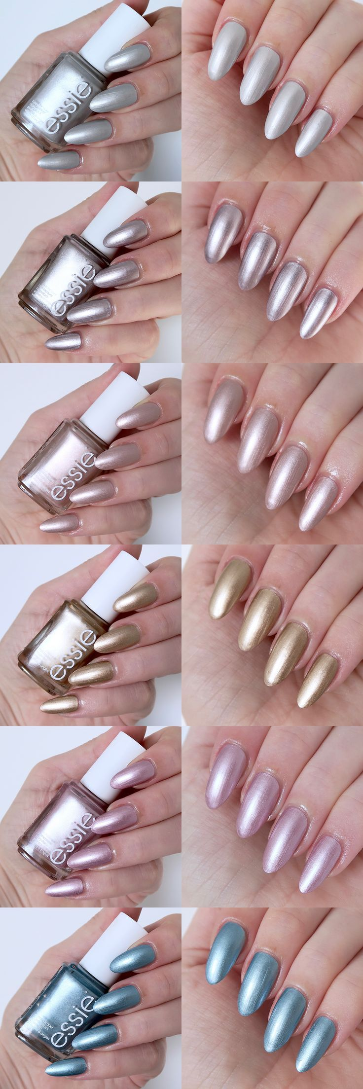 Essie Galaxy Metals collection review, metallic nails | Nails ...
