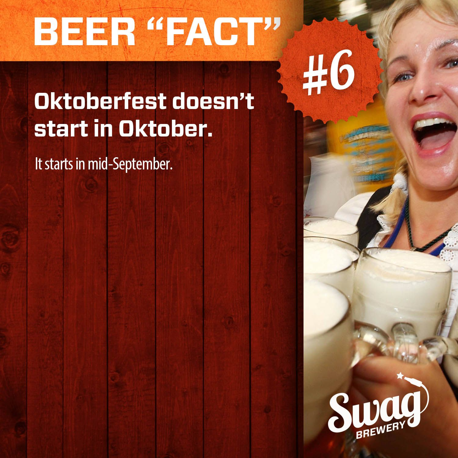 """Beer """"Fact"""" #6. More at: http://www.swagbrewery.com/blogs/beer-facts"""