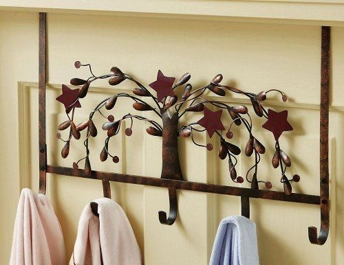 Country primitive over the door bathroom hooks by collections etc by hodeac