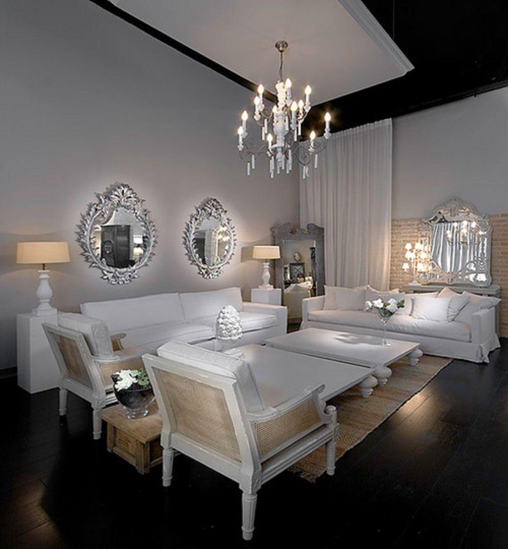 White Minimalist Style Living Room Design Home Decorating Ideas  # Muebles Con Pajilla