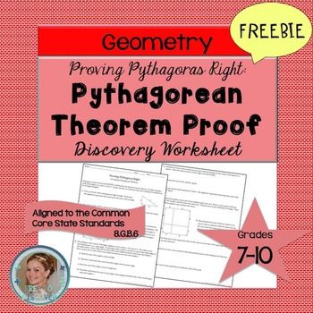 In this Pythagorean Theorem Proof Discovery Worksheet, students - pythagorean theorem worksheet