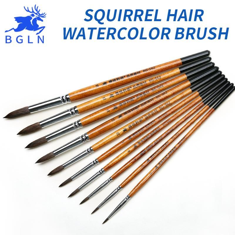 Bgln 1 Piece Squirrel S Hair Professional Paint Brushes Watercolor