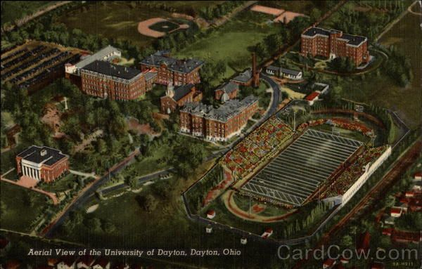 Aerial View Of The University Of Dayton Dayton Ohio University Of Dayton Dayton Ohio Aerial View