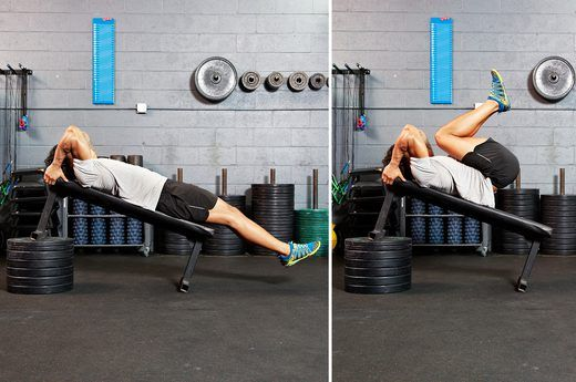 The 41 Hardest Ab Exercises Fit It In Bench Ab Workout Lower Ab