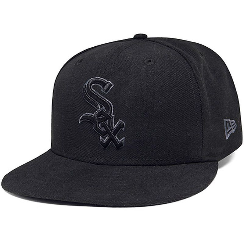 211295e5529 Chicago White Sox New Era Basic 59FIFTY Fitted Hat - Black Gray ...