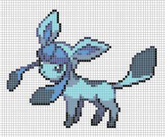 Glaceon Pixel Art Grid Perler Beads Pixel Art Grid Pixel Art