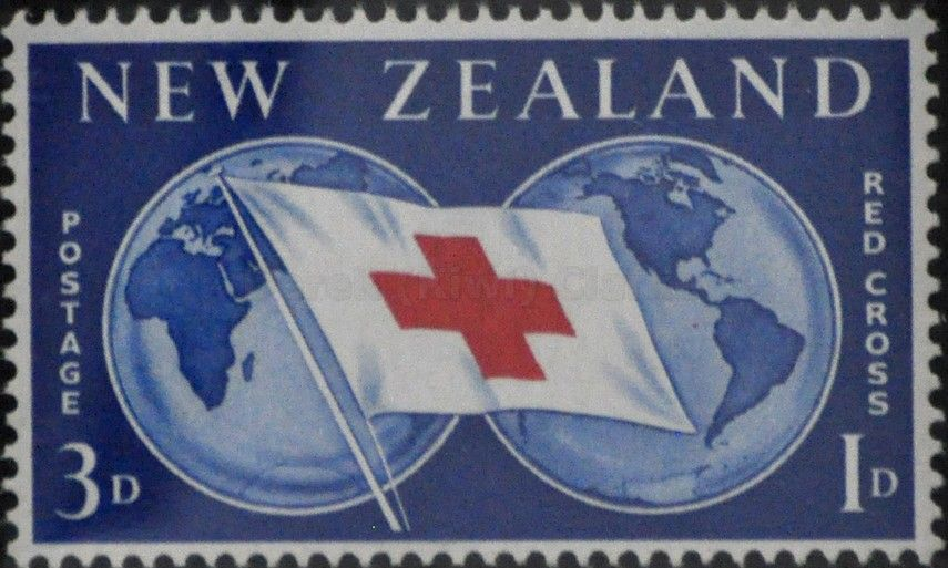 New zealand 94 1959 red cross commemoration red cross flag