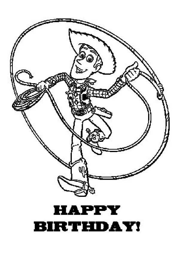 Print Coloring Image Momjunction Toy Story Coloring Pages Happy Birthday Coloring Pages Birthday Coloring Pages