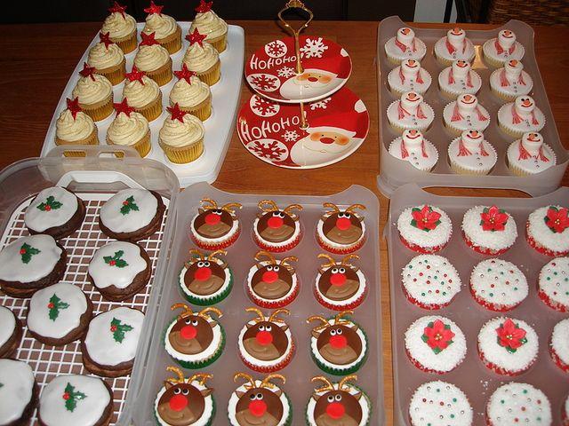 Christmas bake sale cupcakes   Bake sale, Christmas baking and ...