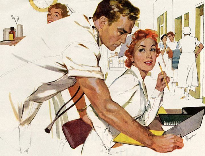 Oh Doctor Illustration By Robert Meyers For The Saturday Evening Post