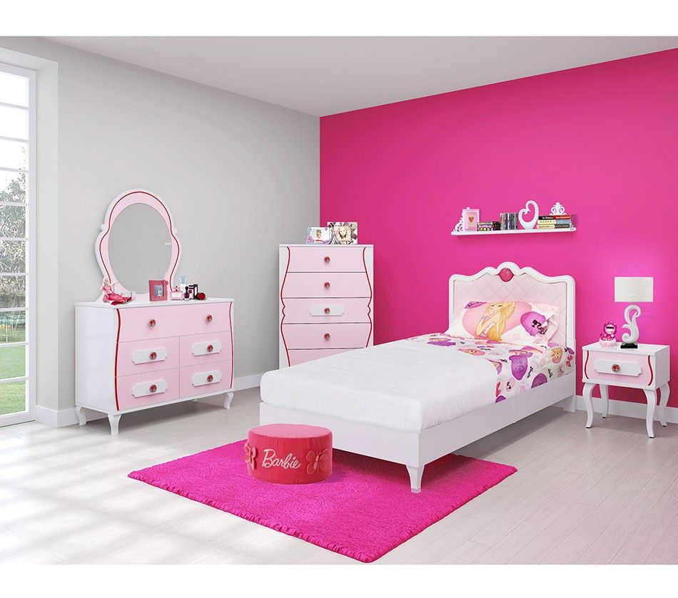 Great BARBIE BEDROOM IN A BOX W/CHEST
