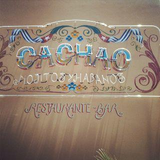 Letrero de Cachao en Barranquilla