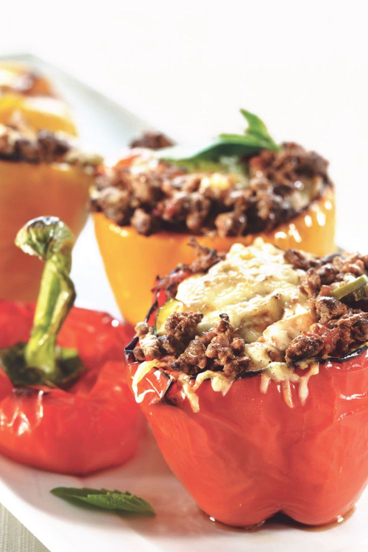 Parmigiana Stuffed Peppers With Quorn Mince Recipe Stuffed Peppers Quorn Recipes Recipes