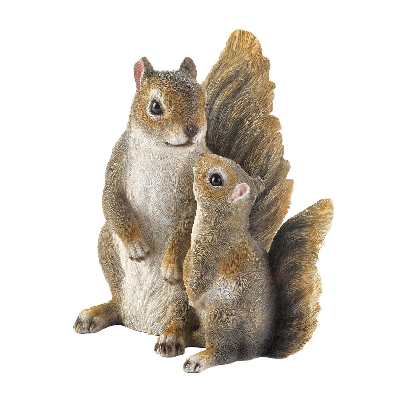 Mommy Me Squirrel Figurine Coristel Home Decor In 2020 Squirrel Figurine Baby Squirrel Squirrel [ 1350 x 1350 Pixel ]