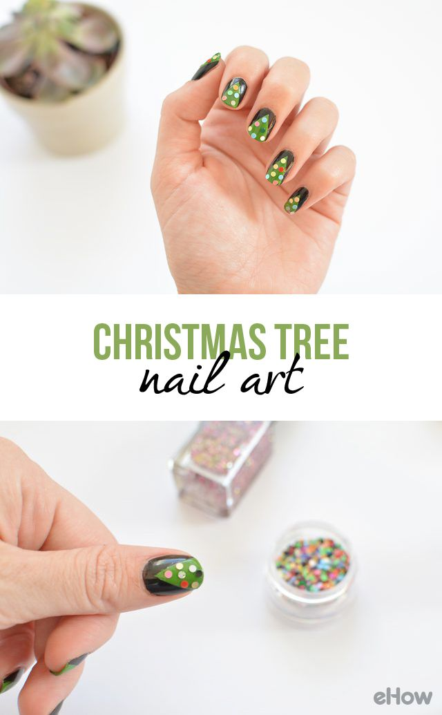 DIY Christmas Tree Nail Art | Tree nail art, Christmas tree nails ...