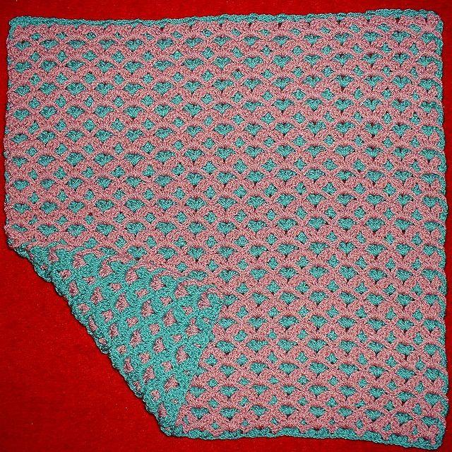 Reversible Crochet Stitch Free On Ravelry Blankets Pinterest