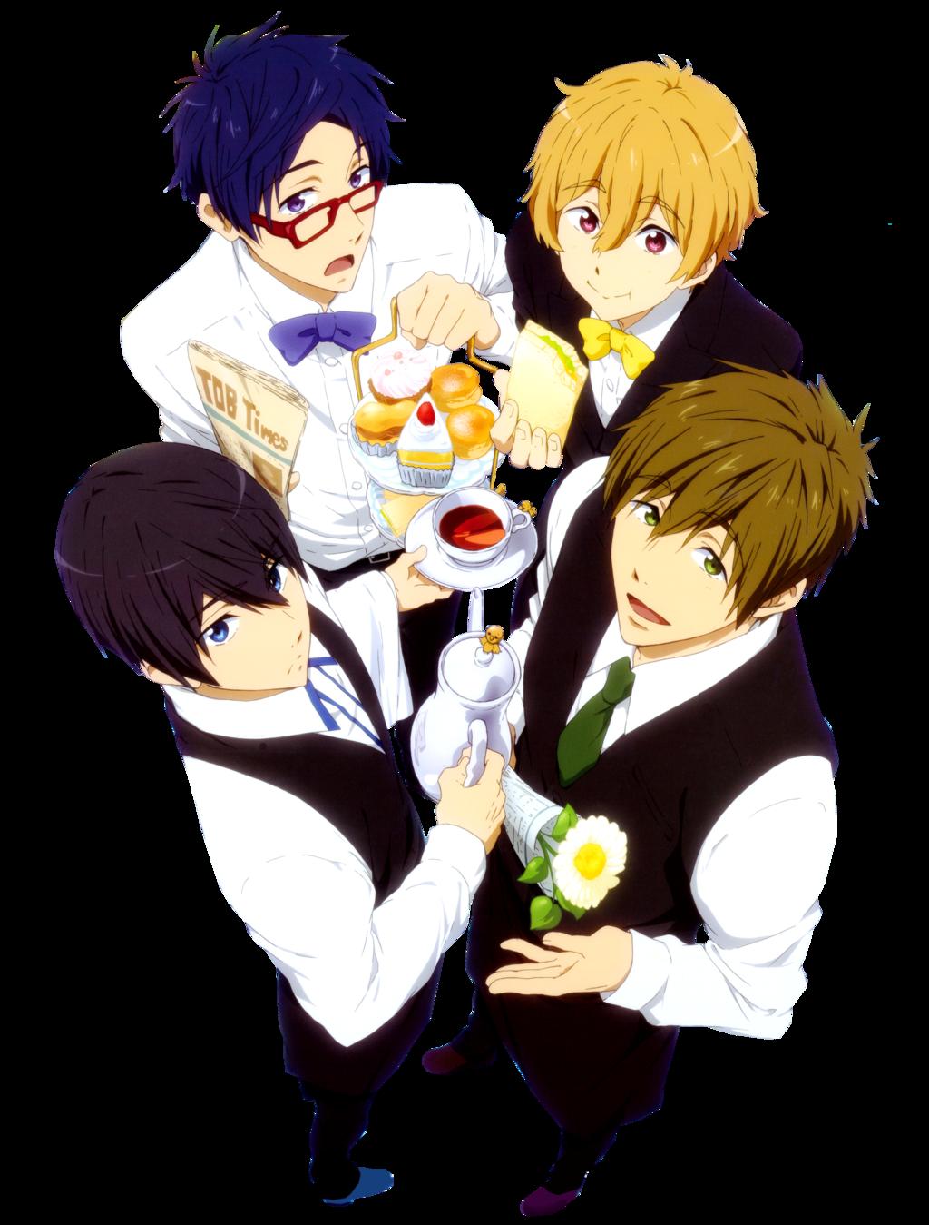 Team Iwatobi Render by Stella1994x on DeviantArt Anime