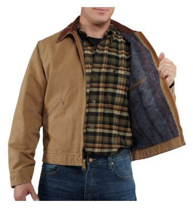 ffa501d94db9e Carhartt - Product - Men's Weathered Duck Detroit Jacket/Blanket-Lined