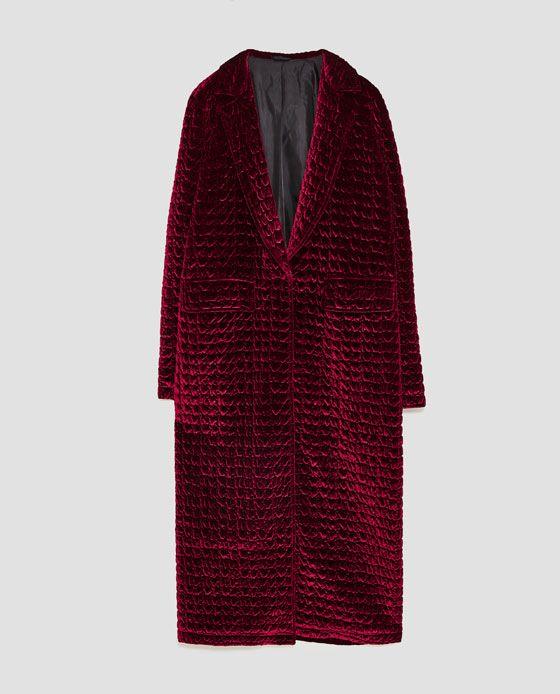 QUILTED VELVET COAT from Zara  2f42aa7b08219