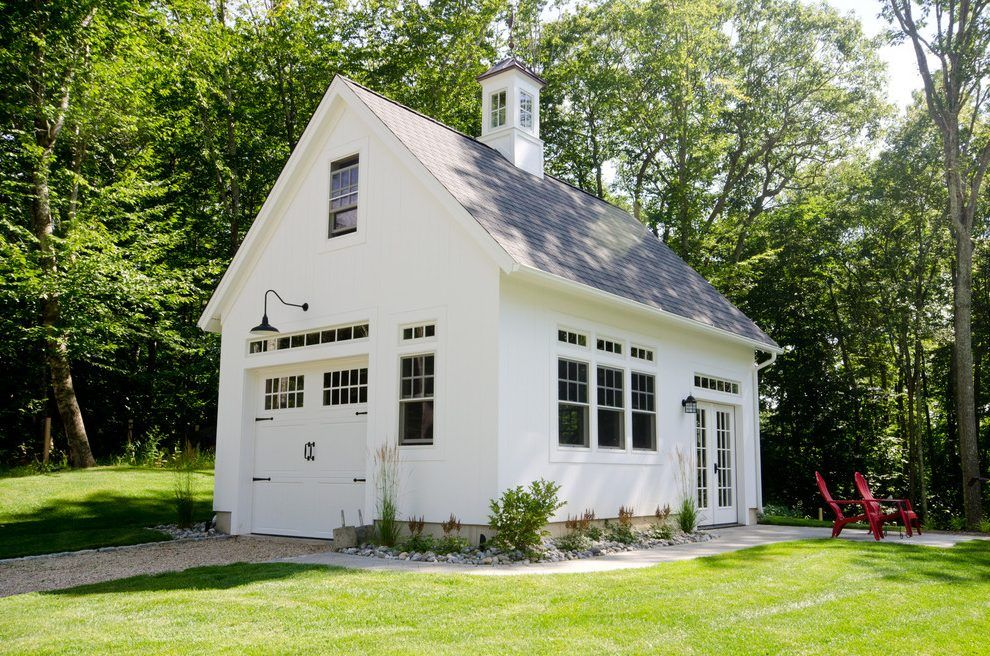 Detached garage plans shed farmhouse with carriage doors wood