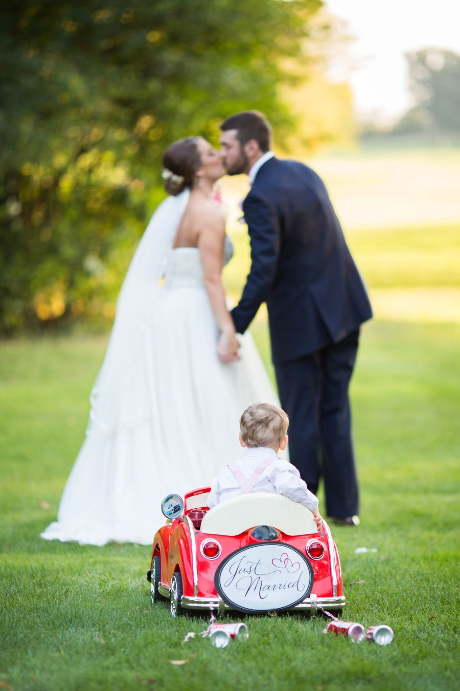 Wedding dress donation  Timeless  Traditional Fall Country Club Wedding  Ring bearer