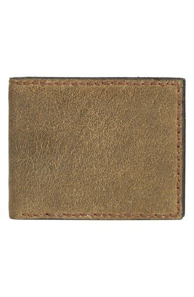 John Varvatos Star USA 'Brooklyn' Suede Bifold Wallet