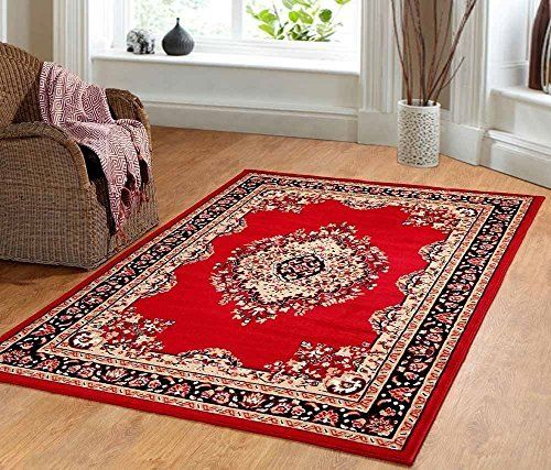 Furnish My Place Traditional Oriental Medallion Area Rug Persian Style Carpet Red Maharaja 611 5 L