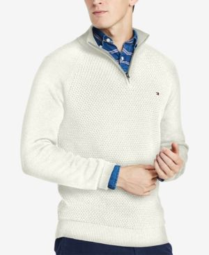 10c3fad2526 Tommy Hilfiger Men's Big & Tall Quarter-Zip Sweater, Created for ...