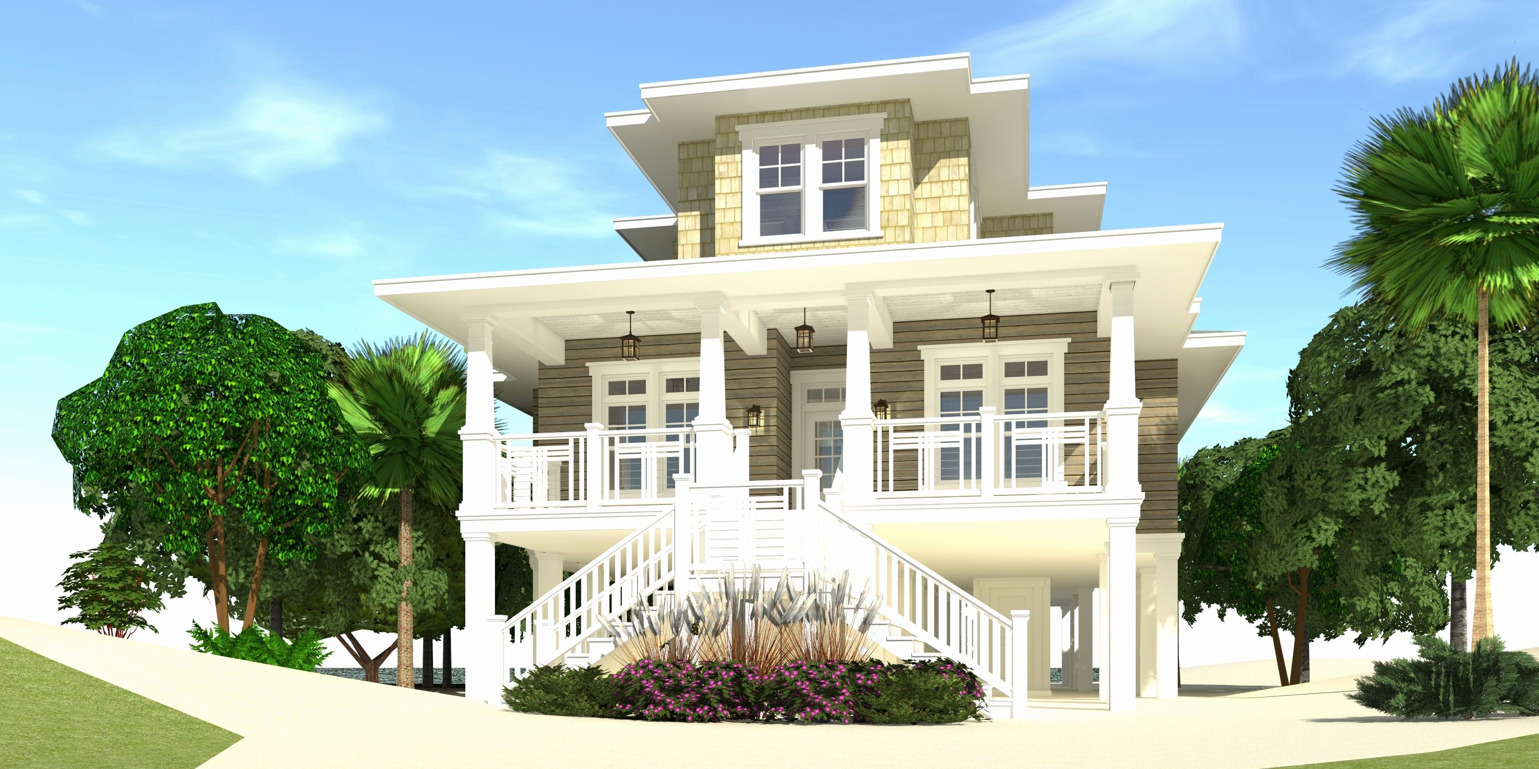 Key West Style House Plans With Wall White Wood Cottage Exterior Beach Cottage Style Guest Cottage