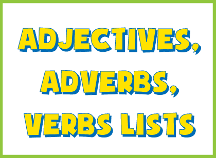 creative writing adjectives