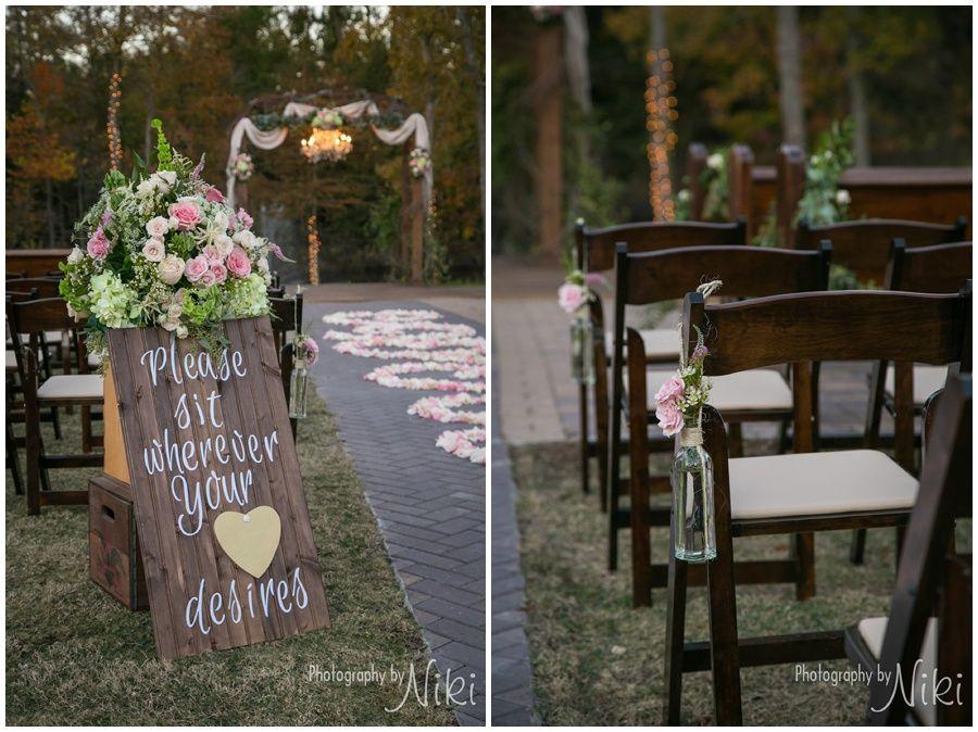 PhotographyByNiki The Carriage House Wedding Venue Conroe Texas Outdoor Ceremony