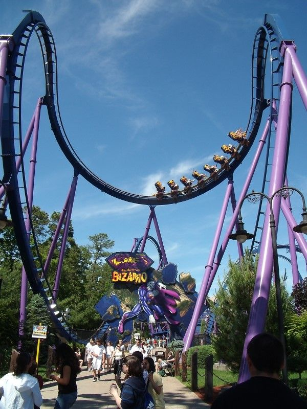 Bizarro Six Flags Great Adventure Jackson New Jersey Usa Six Flags Great Adventure Roller Coaster Scary Roller Coasters