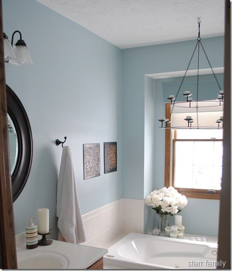 Pretty Blue Bath Bathroom Colors Painting Bathroom White Bathroom Decor