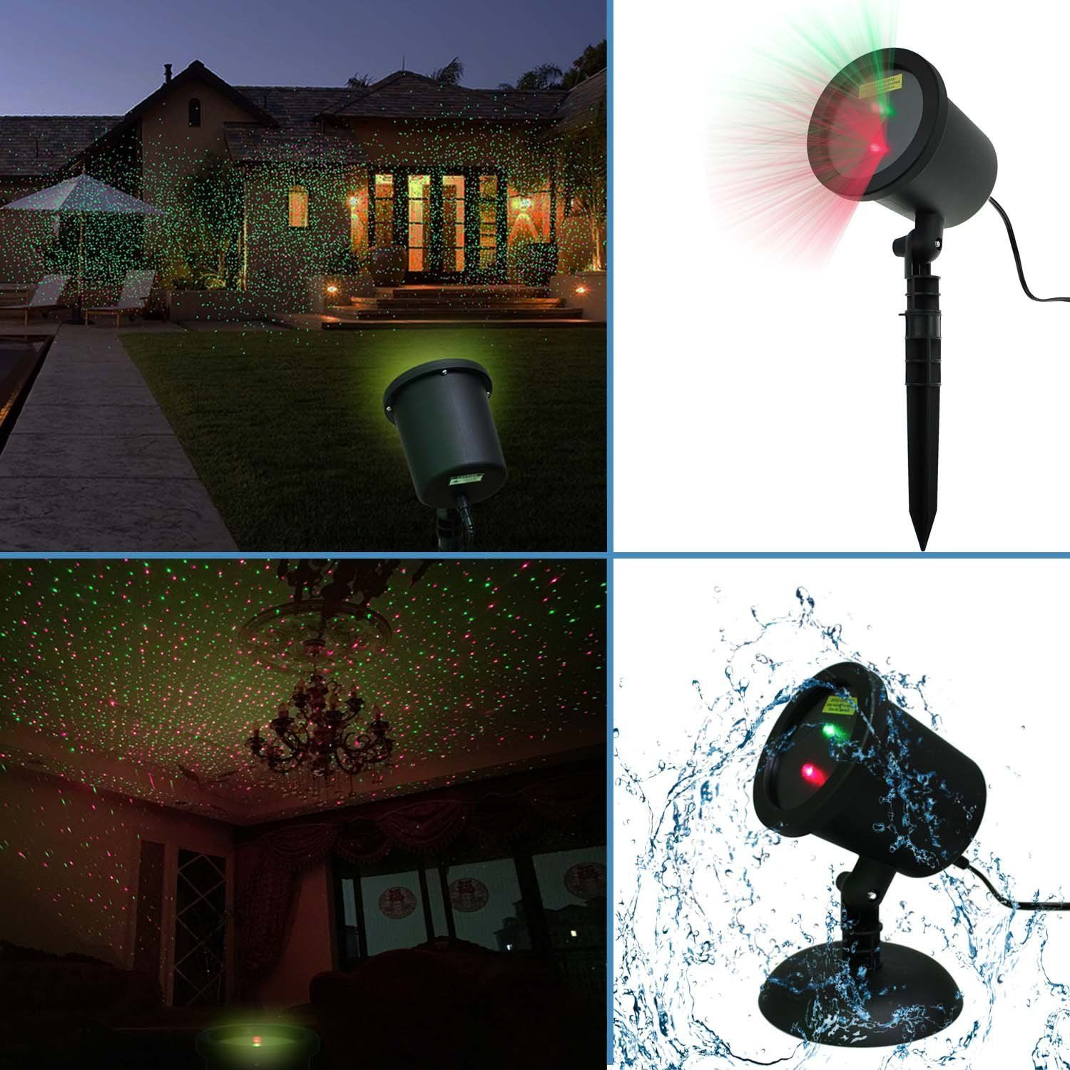 Waterproof Red & Green Laser Light Sparkling