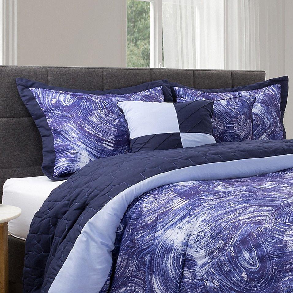 Photo of Nottingham Home 5-Piece King Comforter Set In Blue/violet