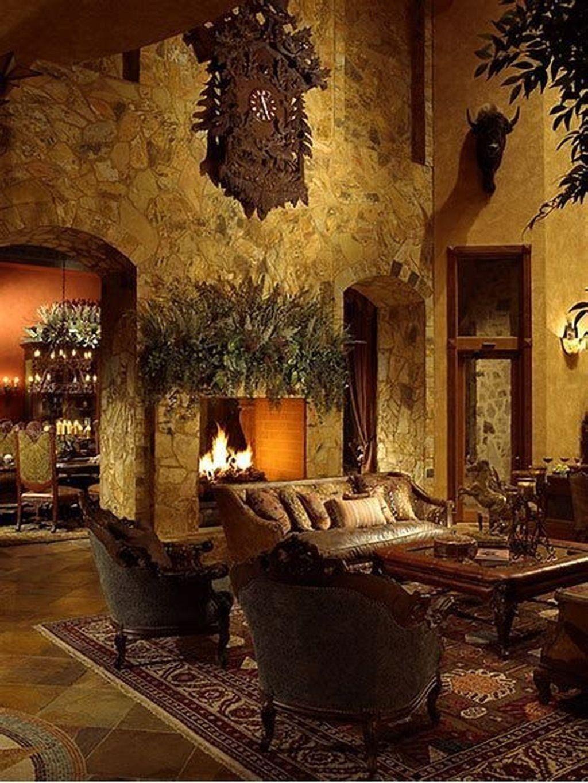 46 Amazing Lodge Living Room Decorating Ideas Tuscan Living Rooms Mediterranean Decor Tuscan Decorating
