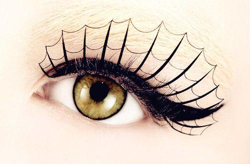 Spider Web Fake Eyelashes Halloween Eye Makeup Halloween Eyes Spider Lashes