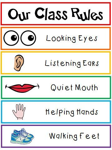 Colors And Kindergarten Class Rules Poster Classroom Rules Transitional Kindergarten