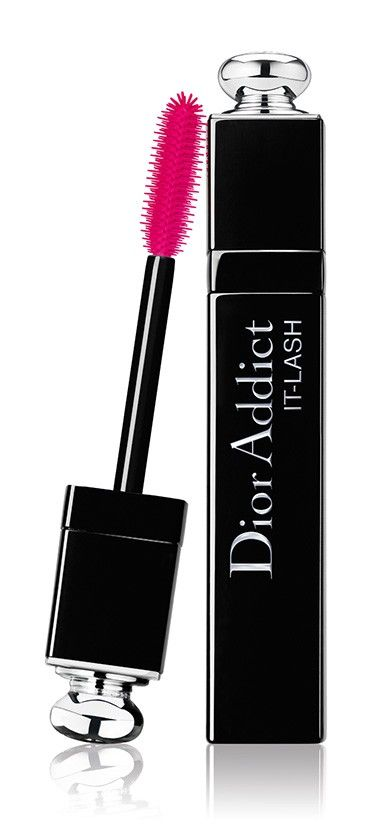 Dior Addict It-Lash  Dior Addict It-Lash dresses the lashes in supercharged shades. It-Black, a profoundly deep black, It-Pink a pop pink for a daring look, It-Blue, a saturated blue to electrify your look, and It-Purple, an astonishing violet with a sophisticated allure. Never seen before..